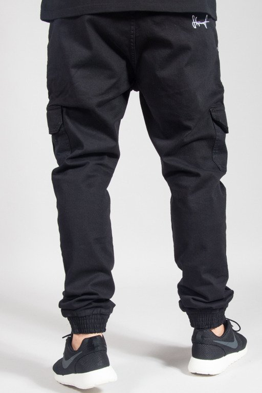 STOPROCENT PANTS CHINO JOGGER ARMY17 BLACK
