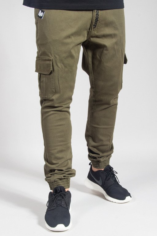STOPROCENT PANTS CHINO JOGGER ARMY17 KHAKI