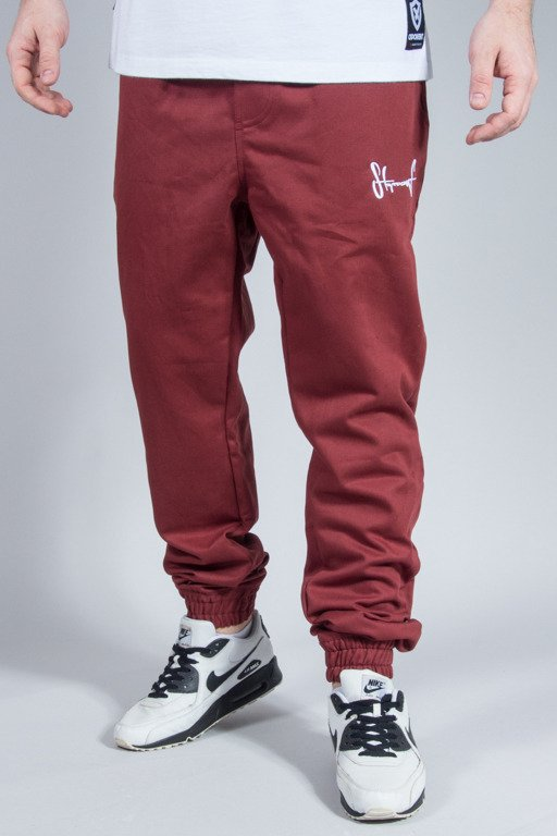 STOPROCENT PANTS CHINO JOGGER BRICK