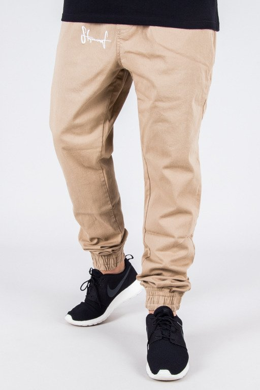 STOPROCENT PANTS CHINO JOGGER CLASSIC BEIGE