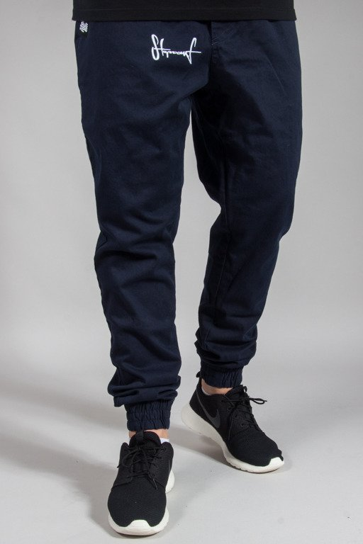 STOPROCENT PANTS CHINO JOGGER CLASSIC NAVY