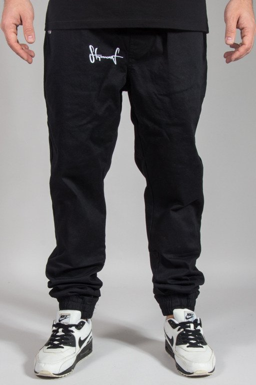 STOPROCENT PANTS CHINO JOGGER CLASSIC17 BLACK