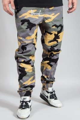 STOPROCENT PANTS CHINO JOGGER CLASSIC17 CAMO GREEN
