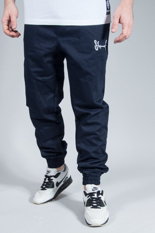 STOPROCENT PANTS CHINO JOGGER NAVY