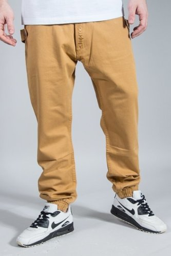 STOPROCENT PANTS CHINO JOGGER TRAVELER CANVAS HONEY