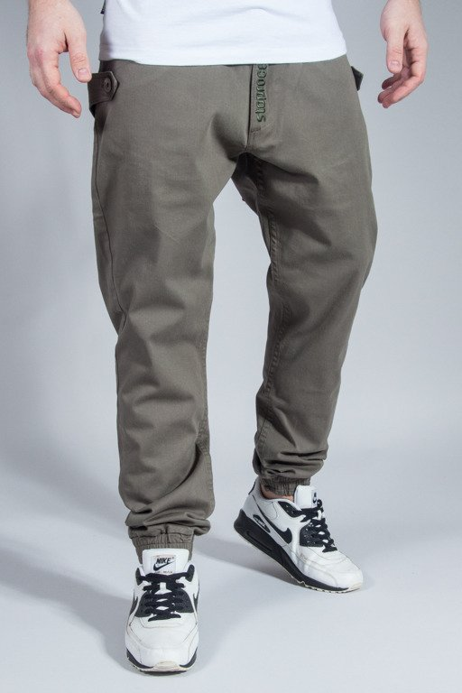 STOPROCENT PANTS CHINO JOGGER TRAVELER CANVAS KHAKI