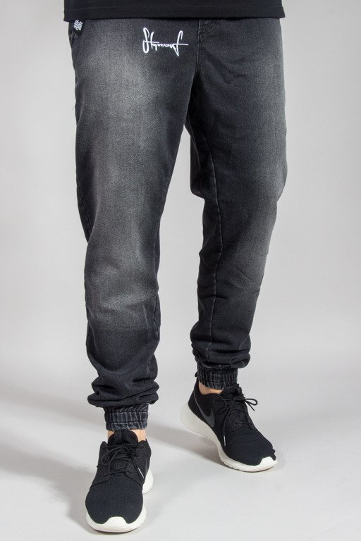 STOPROCENT PANTS JEANS JOGGER CLASSIC BLACK