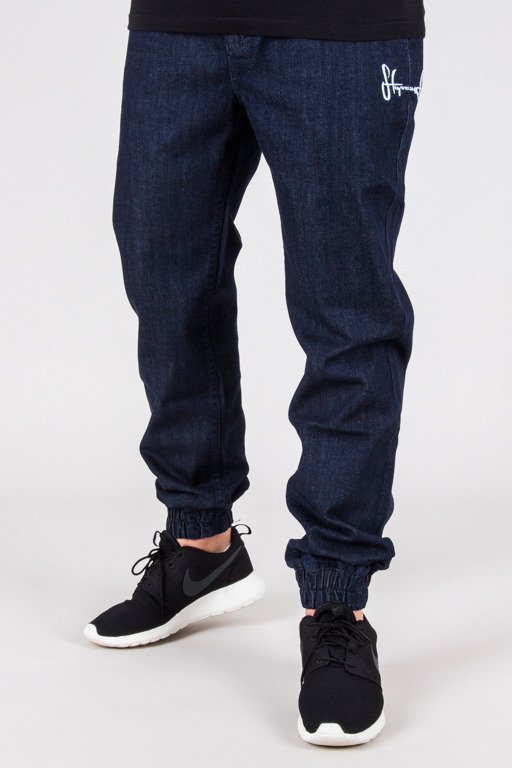 STOPROCENT PANTS JEANS JOGGER CLASSIC DARK