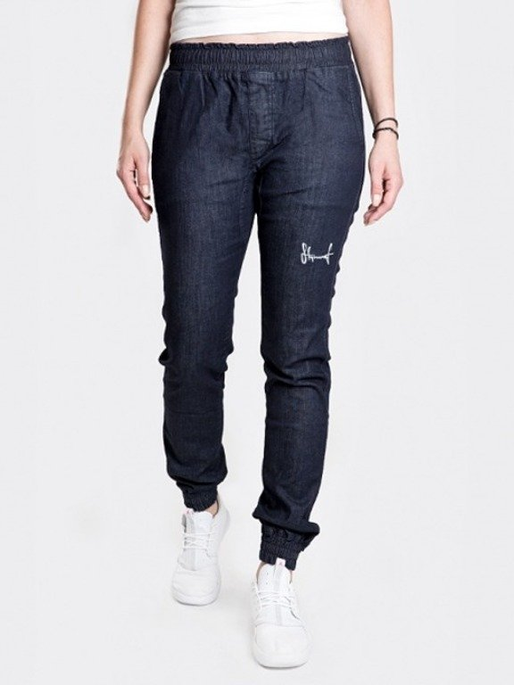 STOPROCENT PANTS JEANS JOGGER WOMAN HIGHJOGGER DARK