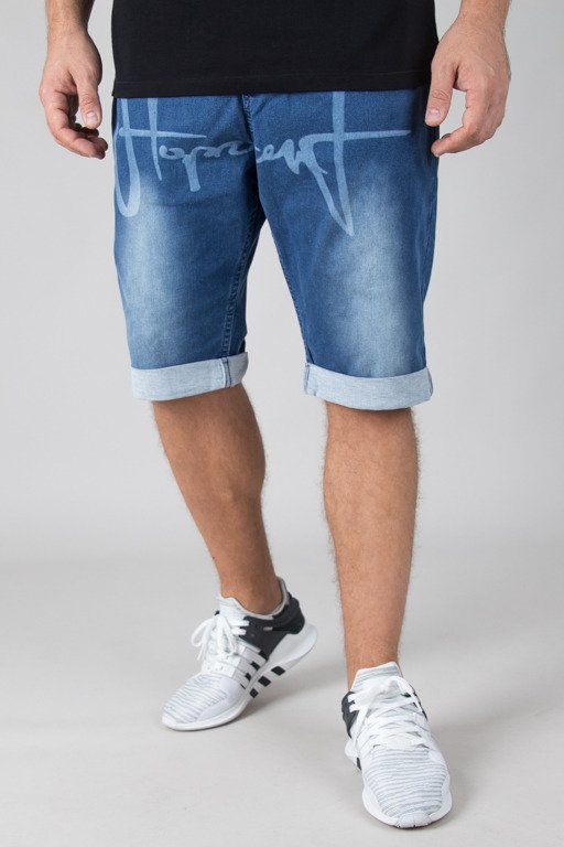 STOPROCENT SHORTS JEANS TAG BLUE