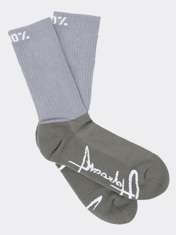 STOPROCENT SOCKS LONG BIG TAG16 GREY-KHAKI