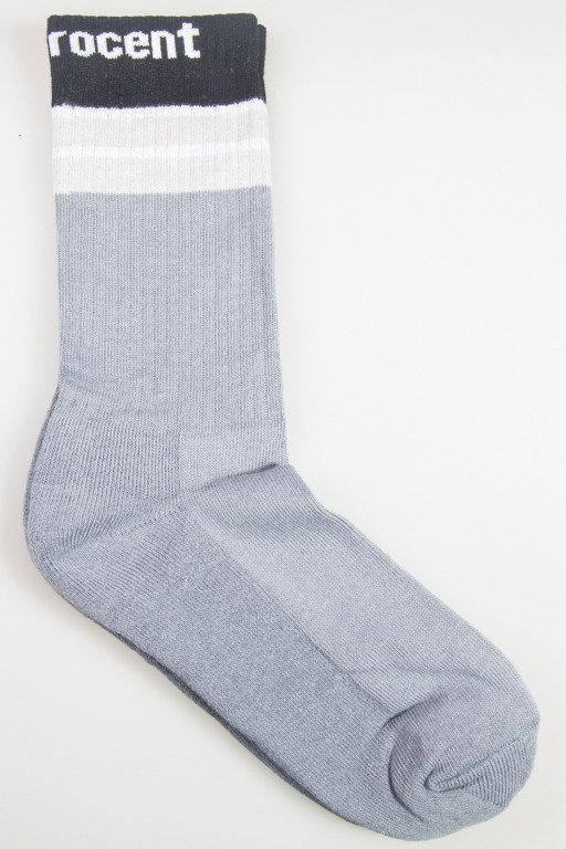 STOPROCENT SOCKS LONG STRIPES BLACK-GREY