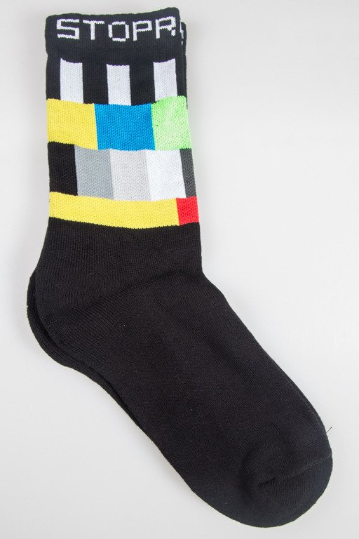 STOPROCENT SOCKS LONG TV BLACK