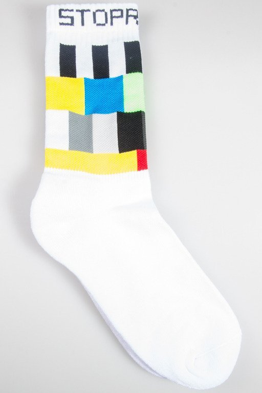 STOPROCENT SOCKS LONG TV WHITE