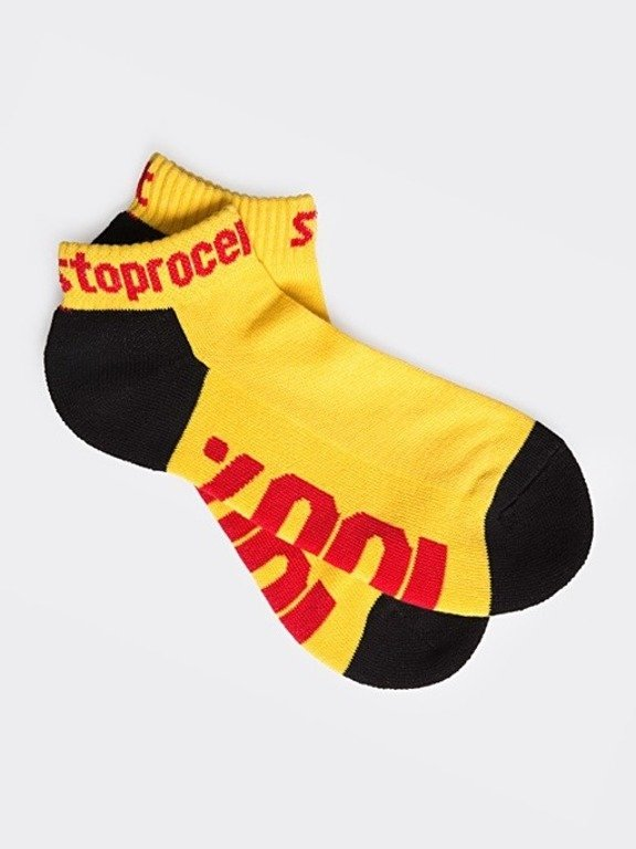STOPROCENT SOCKS SHORT 100 BLACK-YELLOW