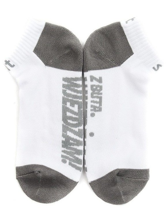 STOPROCENT SOCKS SHORT Z BUTA WHITE-GREY