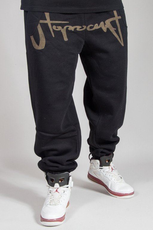 STOPROCENT SWEATPANTS BLEACHTAG17 BLACK