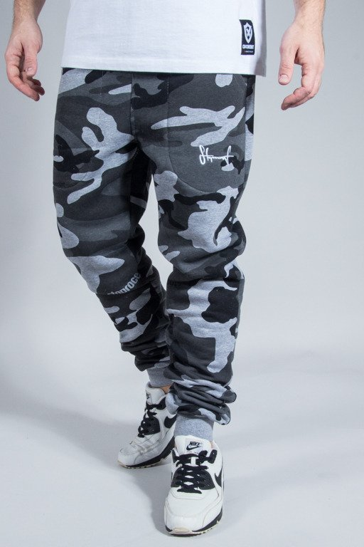 STOPROCENT SWEATPANTS COWBOY POCKETAG GREY CAMO
