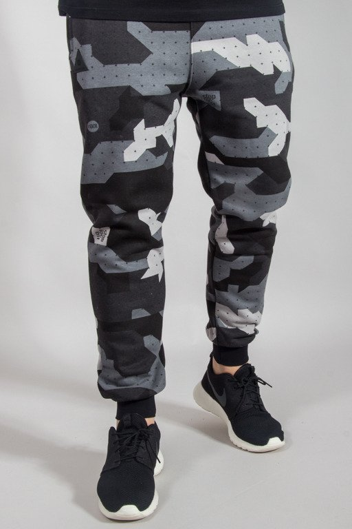 STOPROCENT SWEATPANTS JOGGER CAMU BLACK