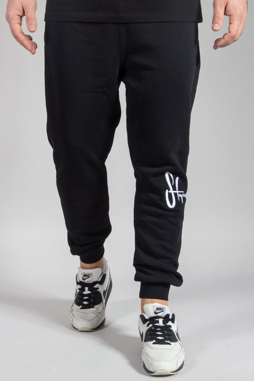 STOPROCENT SWEATPANTS JOGGER KNEETAG17 BLACK