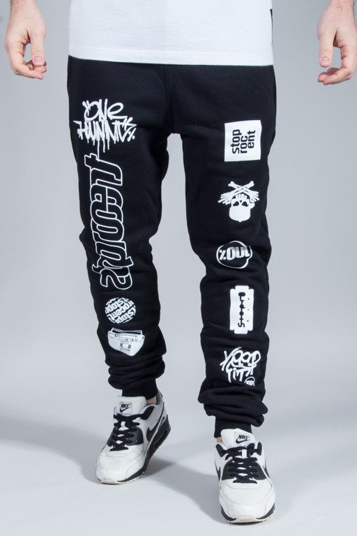 STOPROCENT SWEATPANTS MULTI BLACK