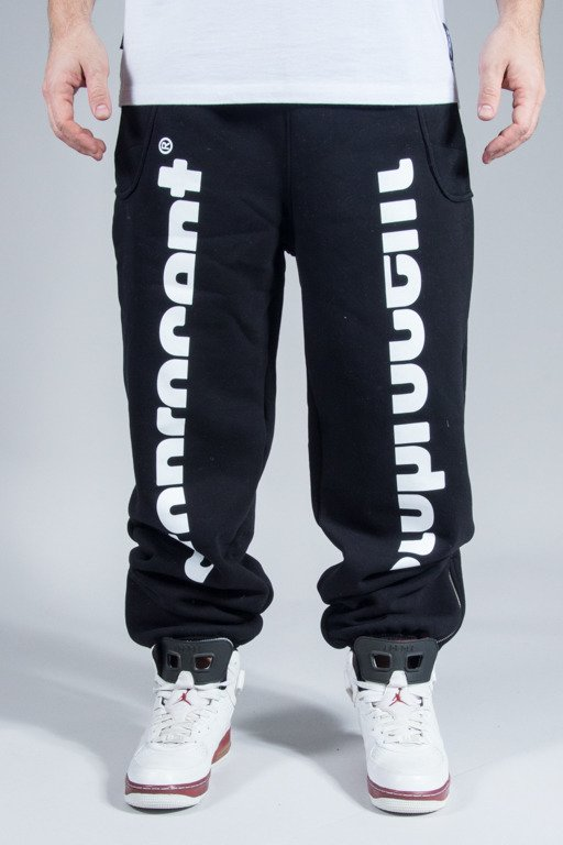 STOPROCENT SWEATPANTS SLICES BLACK