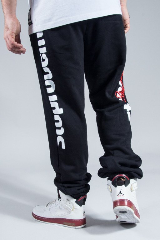 STOPROCENT SWEATPANTS SLICETAG BLACK