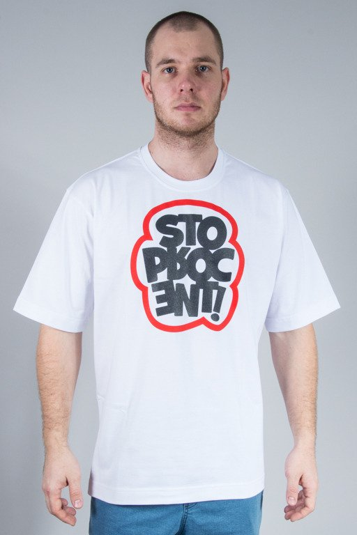 STOPROCENT T-SHIRT CLOUD WHITE
