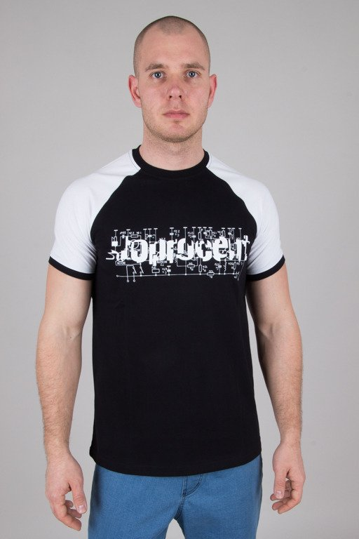 STOPROCENT T-SHIRT ELECTRO BLACK-WHITE