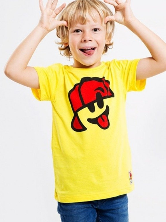 STOPROCENT T-SHIRT KIDS SMILE YELLOW