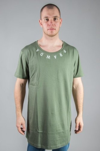 STOPROCENT T-SHIRT LONG PRAWDA KHAKI