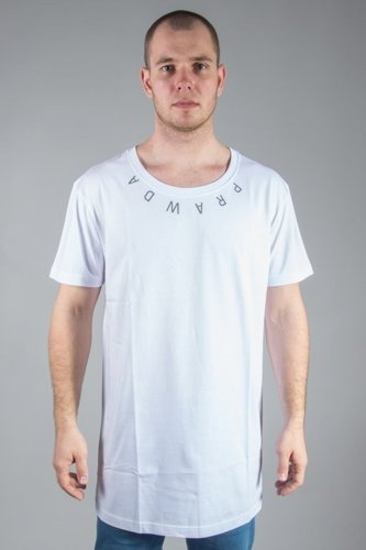 STOPROCENT T-SHIRT LONG PRAWDA WHITE