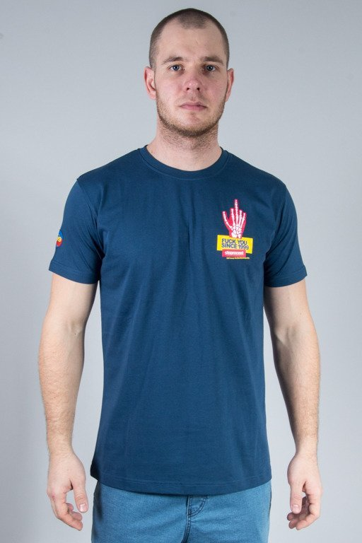 STOPROCENT T-SHIRT SKELET NAVY