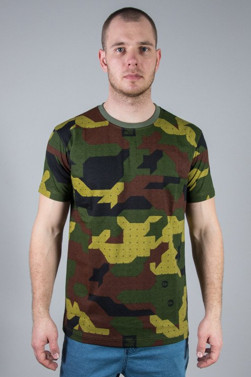 STOPROCENT T-SHIRT SLIM CAMU GREEN