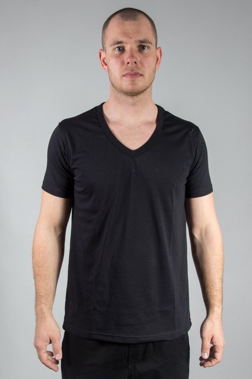 STOPROCENT T-SHIRT VNECK17 BLACK