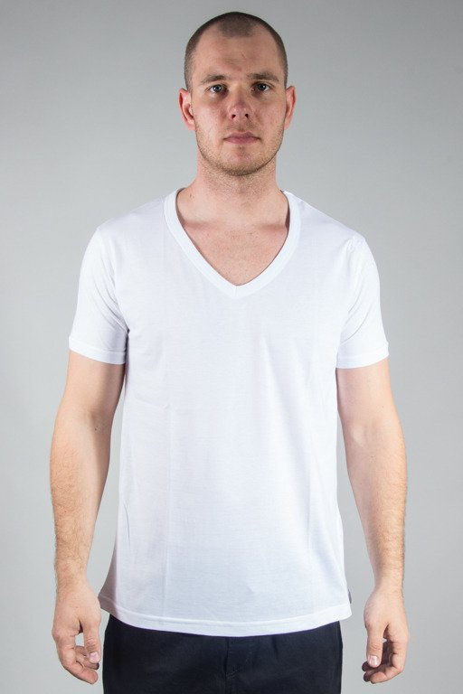 STOPROCENT T-SHIRT VNECK17 WHITE