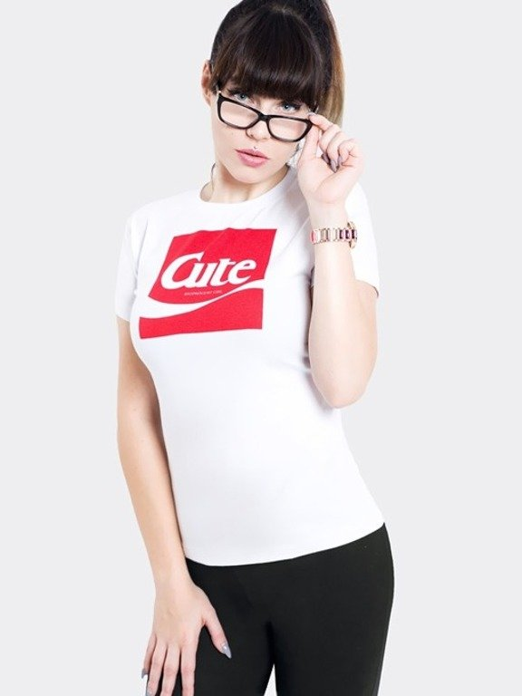 STOPROCENT T-SHIRT WOMAN CUTE17 WHITE