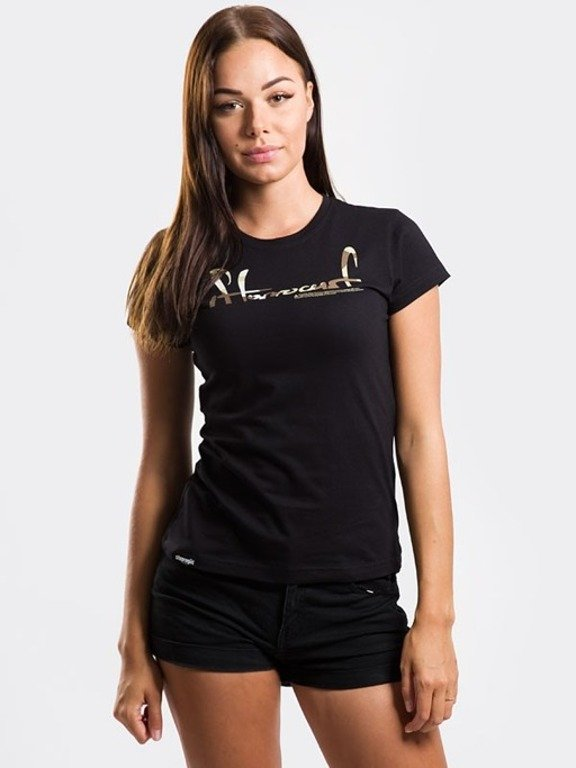 STOPROCENT T-SHIRT WOMAN CUTTAG BLACK