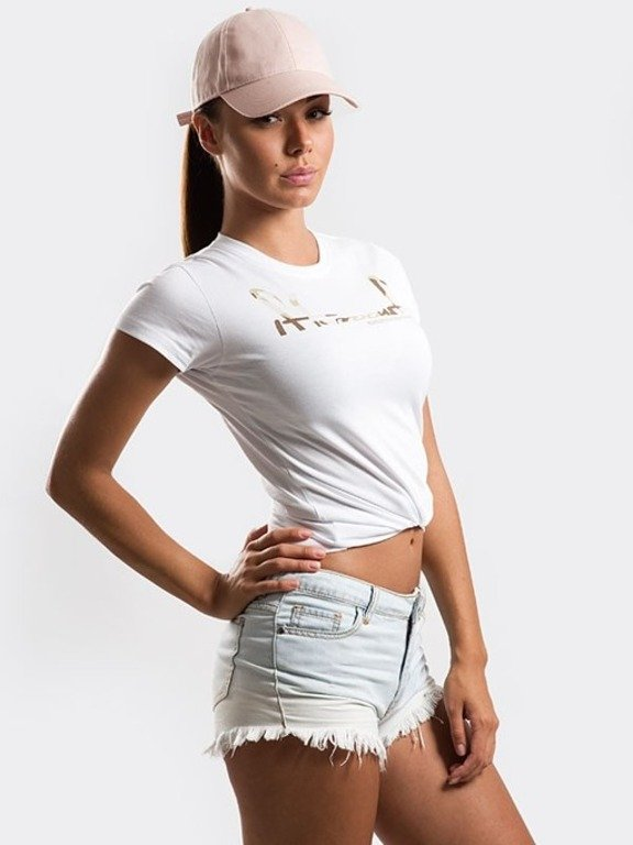 STOPROCENT T-SHIRT WOMAN CUTTAG WHITE