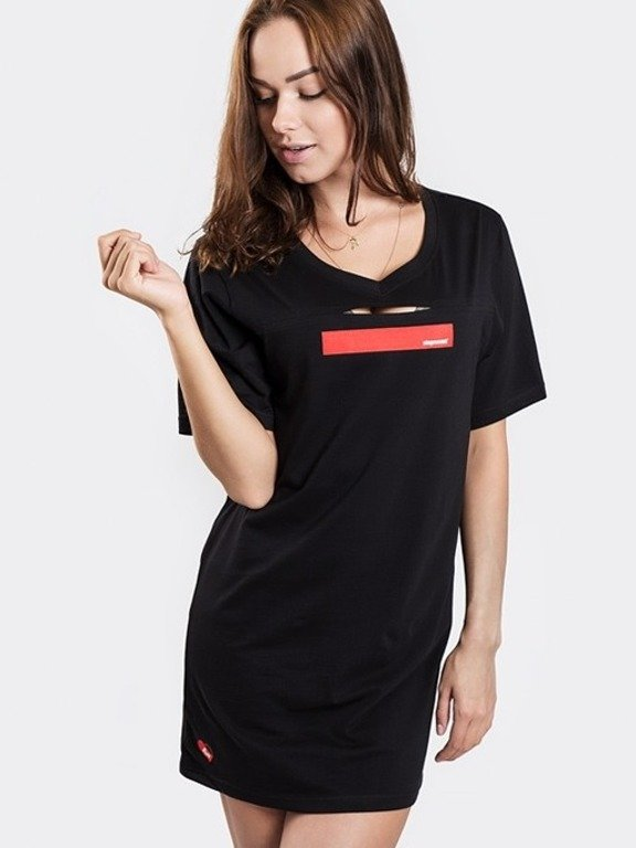 STOPROCENT T-SHIRT WOMAN SIMPLE BLACK