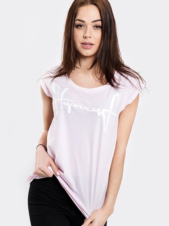 STOPROCENT T-SHIRT WOMAN TAGIRL PINK