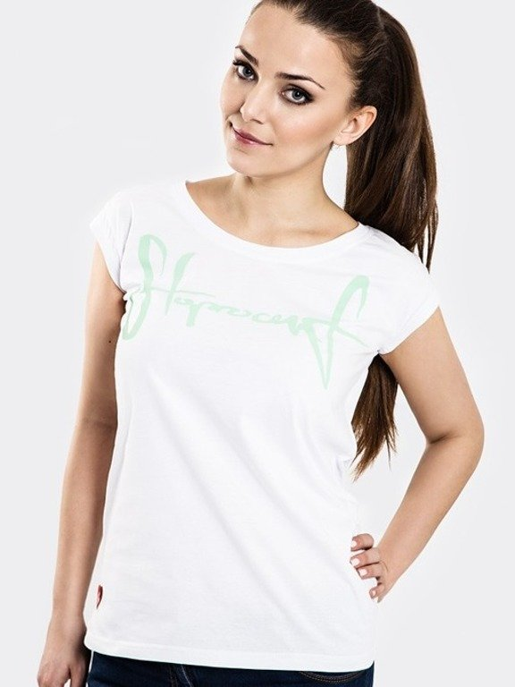 STOPROCENT T-SHIRT WOMAN TAGIRL WHITE