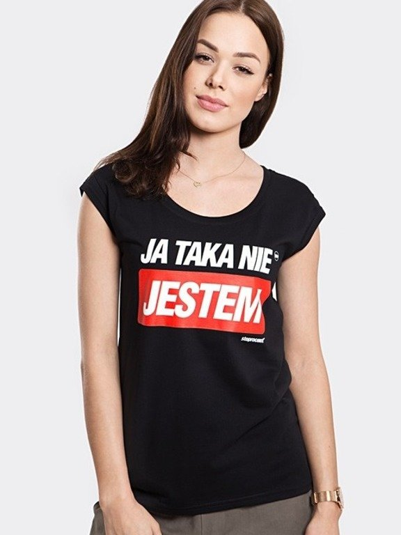 STOPROCENT T-SHIRT WOMAN TAKA BLACK
