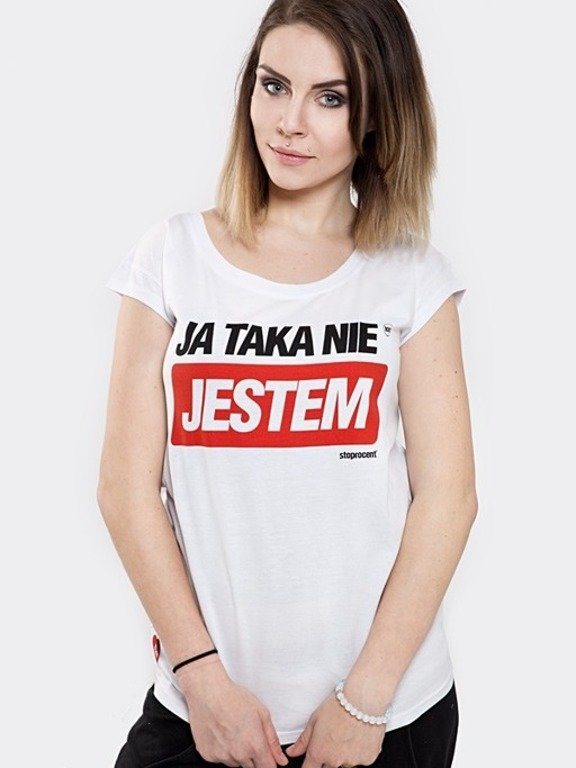 STOPROCENT T-SHIRT WOMAN TAKA WHITE