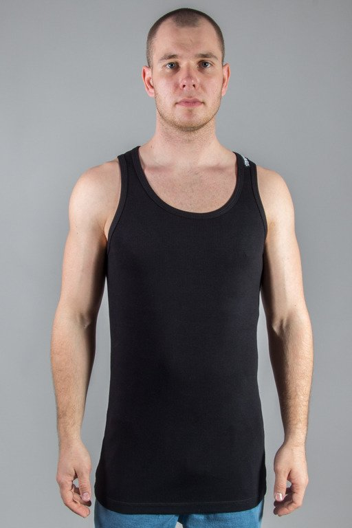 STOPROCENT TANK TOP RIBB LONG SIMPLE BLACK
