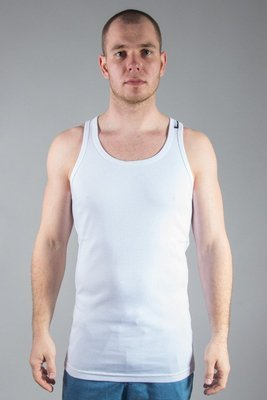 STOPROCENT TANK TOP RIBB LONG SIMPLE WHITE