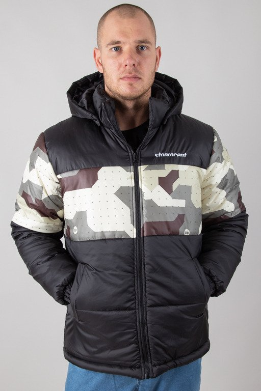 STOPROCENT WINTER JACKET PUFFER SLICE BLACK-CAMO