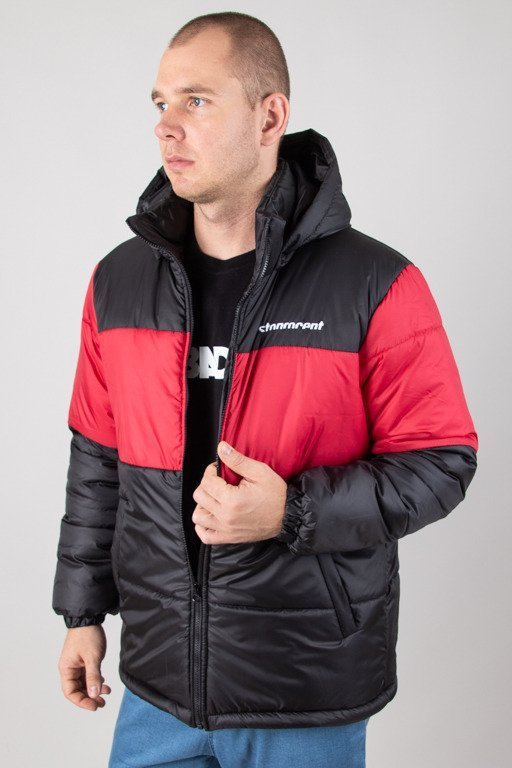STOPROCENT WINTER JACKET PUFFER SLICE BLACK-RED