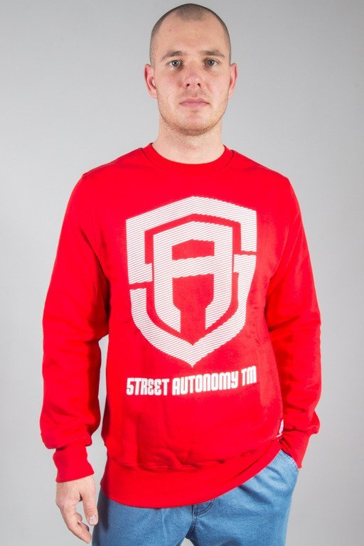 STREET AUTONOMY CREWNECK LOGO BREAK RED
