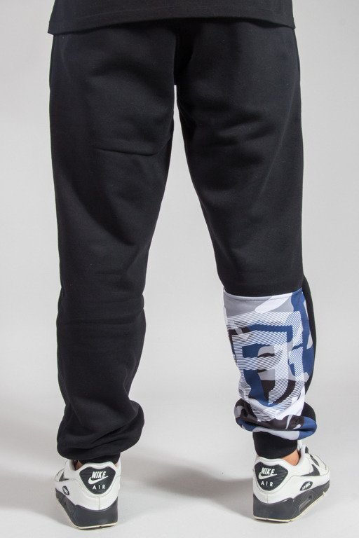 STREET AUTONOMY SWEATPANTS CAMO BLACK-NAVY